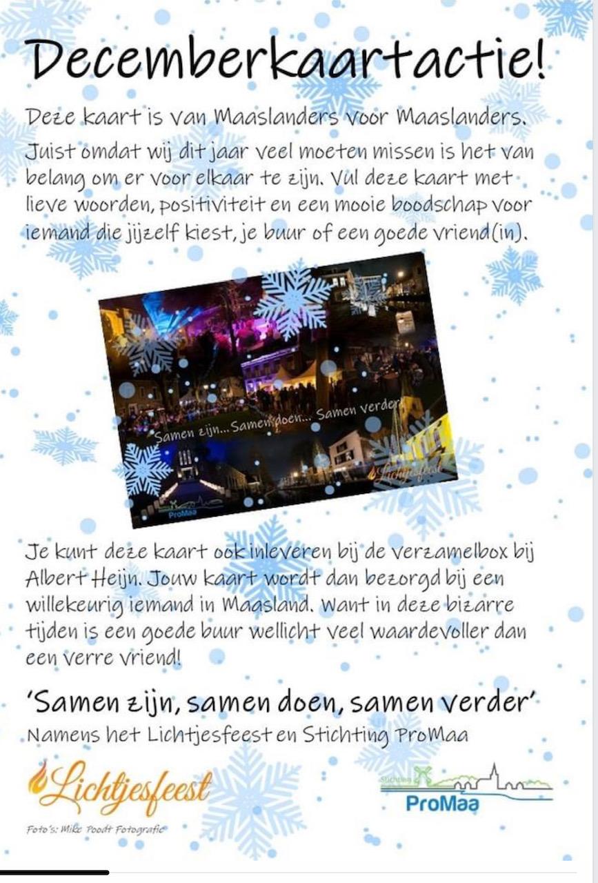 Decemberkaartactie Maaslands Lichtjesfeest